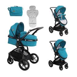 Lorelli Kombi-Kinderwagen Kombikinderwagen Lumina 2 in 1, Babywanne Sportsitz drehbar in einem blau