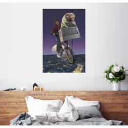 Posterlounge Wandbild, E.T. - Fliegendes Fahrrad 60 cm x 90 cm