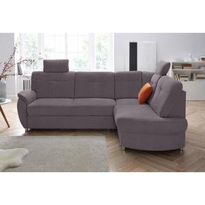 sit&more Ecksofa, wahlweise mit Bettfunktion und Bettkasten grau