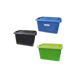 Wilai Aufbewahrungsbox Aufbewahrungsbox mit Deckel und Rollen 40 Liter schwarz