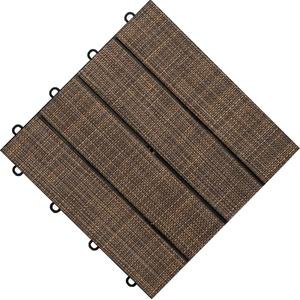 florco® Terrassenplatten Tex, 30x30 cm, 6-St., Klickfliesen braun