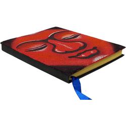 Guru-Shop Tagebuch Notizbuch, Tagebuch - Budha rot