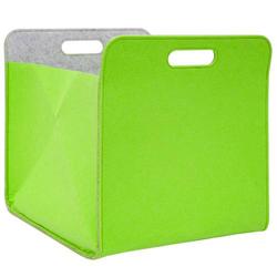 Filz Aufbewahrungsbox 33x33x38 cm Kallax Filzkorb Regal Einsatz Box Filzbox Grün