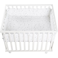 Roba Laufgitter 75 x 100 cm weiß Bodenfarbe Sternenzauber grau