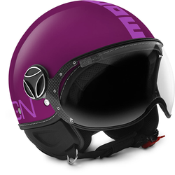 MOMO FGTR Classic Jet helm paars / roze, donkerrood, L
