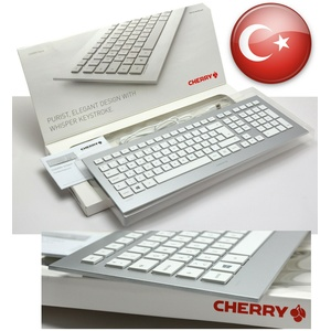 CHERRY TASTATUR STRAIT JK-0300TQ/01 ALU ALUNIMIUM SLIM DESIGN TÜRKISCH TURK NEW