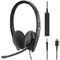 Sennheiser SC 165 USB-C Kopfhörer Kopfband Schwarz
