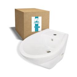 ® Universal - Bidet mit Hahnloch und Überlauf aus Keramik in Weiß zur Montage an der Wand