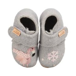 Living Kitzbühel Baby Hausschuhe Winterflamingo für Mädchen Hausschuh 25