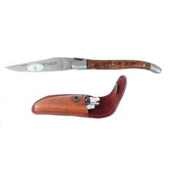 Laguiole Frankreich Taschenmesser Original LAGUIOLE en Aubrac Taschenmesser Griffschalen Thuja