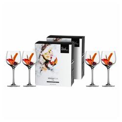 Eisch Rotweinglas Burgunderglas 4er Set Superior Sensis plus, Kristallglas beige