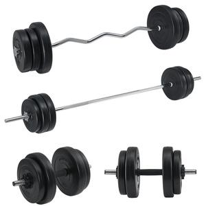 Artsport 3in1 Hantelset mit 2 Kurzhanteln, 1 Langhantel & 1 SZ Curlhantel – 12 Gewichte mit 60kg