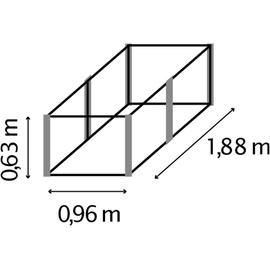 Vitavia Hochbeet Linus 630 granit