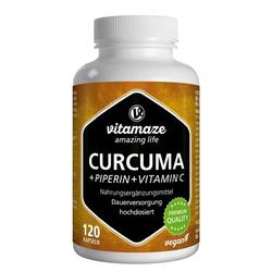 CURCUMA+PIPERIN+Vitamin C vegan Kapseln 120 St