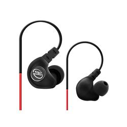 deleyCON SOUNDSTERS S19 - In-Ear Sport Kopfhörer mit Bügel für alle Mobilgeräte - Rot Kopfhörer
