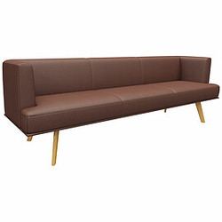 ALIA UNI Sofa mit 4-Fuß-Holzgestell, 250cm breit