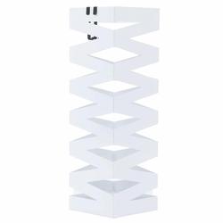 Stojak na parasole Zygzag metalowy biały