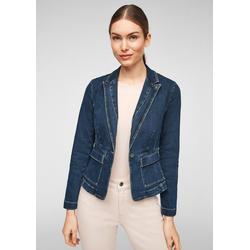 Comma Jeansjacke Taillierter Blazer aus Jeans Waschung 38