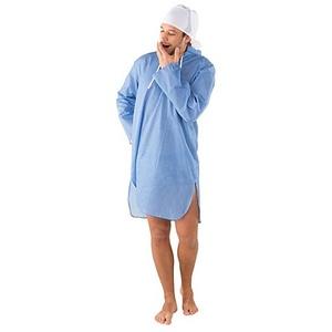 Nachthemd, blau/weiß kariert