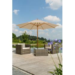Schneider Schirme Sonnenschirm Malaga, ohne Schirmständer beige Sonnenschirme -segel Gartenmöbel Gartendeko