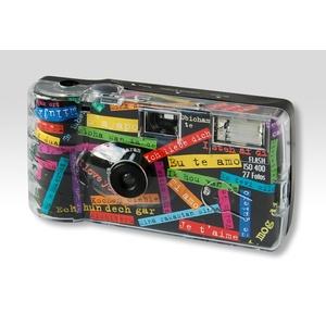 "Diverse Einwegkamera ""I mog di"" schwarz, 27 Aufnahmen mit Blitz"
