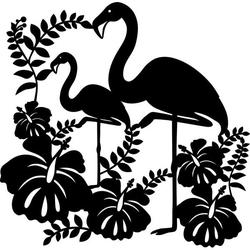 MARABU Silhouette Schablone 02890 000 00 005, Flamingo, 30x30cm
