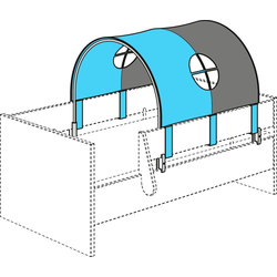 Bettrolle Spielzelt für Paidi Lotte & Fynn, PAIDI, Steiff by Paidi grau