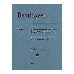 Klaviersonate Nr. 14 cis-moll Opus 27 Nr.2 (Mondschein). Ludwig van - Klaviersonate Nr. 14 cis-moll op. 27 Nr. 2 (Mondscheinsonate) Beethoven  - Buch
