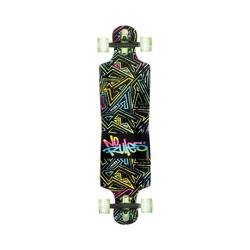 No Rules Longboard Longboard ABEC 7 Neon mit Leuchtrollen