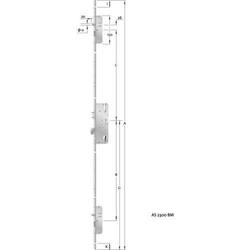 KFV HT-Mehrfachverriegelung, PZ,E92,VK8,D45,20kt,DL/DR