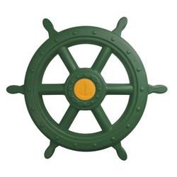 ROG-Gardenline Spielzeug-Steuerrad, Für Schiff / Spielturm aus Kunststoff - Ø 55 CM - Grün grün