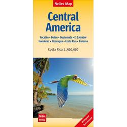 Nelles Map Landkarte Central America Mittelamerika 1:1.750 000