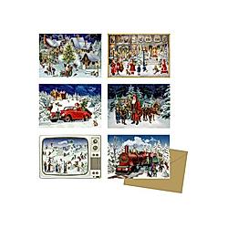 Miniatur-Adventskalender-Sortiment - Nostalgische Adventszeit