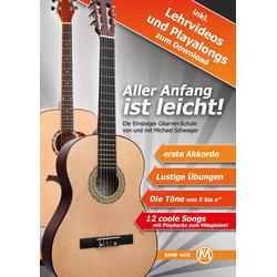 Michael Schwager, Aller Anfang ist leicht, Gitarrenschule + DVD und Playback-CD
