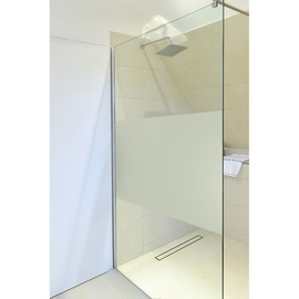 home deluxe navaa duschtrennwand 60 x 200 cm milchglasstreifen - Duschtrennwand Glas