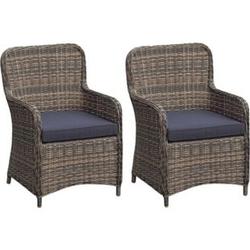 2x Polyrattan Sessel Stuhl Gartenstuhl Rattan Optik Korbsessel Gartensessel
