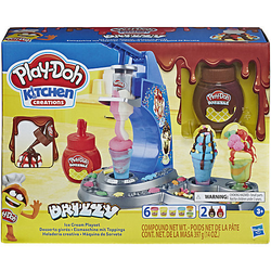 Play-Doh Drizzy Eismaschine mit Toppings, inkl. Play-Doh Drizzle Knete und 6 Play-Doh Farben