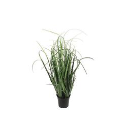 Vosteen Blumentopf Kunstpflanze GRÄSER aus Kunststoff breites künstliches Gras Floristenqualität