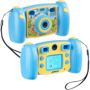 Kinder-Full-HD-Digitalkamera, 2. Objektiv für Selfies & 2 Sucher, blau