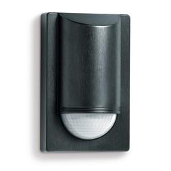 steinel Bewegungsmelder IS 2180 ECO Schwarz, Passiv Infrarot, 2 m optimale Montagehöhe, 180 ° Erfassungswinkel, IP54 Bewegungsmelder