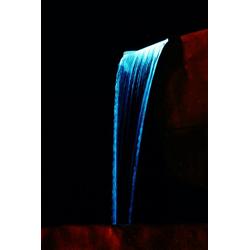 Ubbink Wasserfall Niagara 30 LED, 30 cm Breite, (Set, Wasserfall mit 20 LEDs; Pumpe: 2.300 l/h, 2-m-Schlauch; Becken: 65 l)