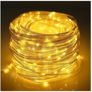 Rosnek LED-Lichterkette 20M-100M LED Lichterkette Beleuchtung Lichterschlauch Party Garten Außen Deko Weihnachtsdeko 20 m