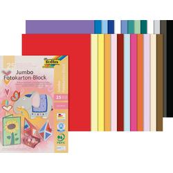 Folia Papierkarton Fotokarton Block, 25 Bogen