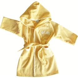 framsohn Kinderbademantel Kaputze Bär Gelb Gr. 92 #
