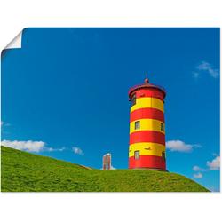 Artland Wandbild Pilsumer Leuchtturm, Gebäude (1 Stück) 80 cm x 60 cm