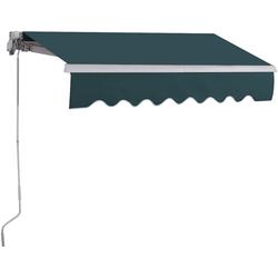 COSTWAY Gelenkarmmarkise Terrassenmarkise grün 200 cm x 250 cm