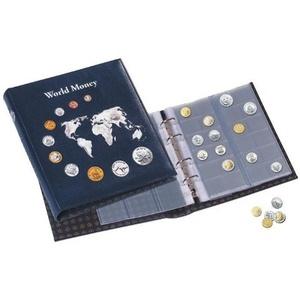 OPTIMA Münzalbum World Money mit 5 verschiedenen OPTIMA Münzhüllen blau