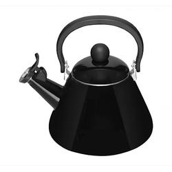 Le Creuset Kone Wasserkessel mit Pfeife Emailleiert Stahl Black