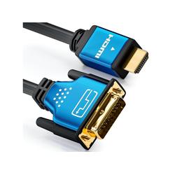 deleyCON deleyCON Premium HQ HDMI zu DVI Kabel - [10m] HDMI-Kabel