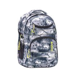 Wave Schulrucksack Infinity, Schultasche, für die weiterführende Schule, Rucksack für Mädchen und Jungen grau